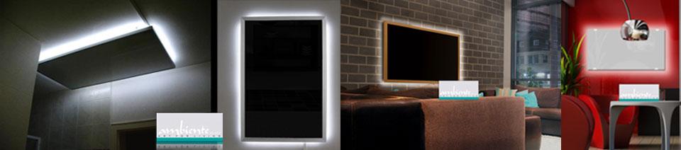 Infrarotheizungen mit Beleuchtung LED Licht
