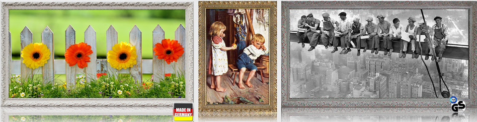 Infrarotheizungen mit Bild und Stilrahmen