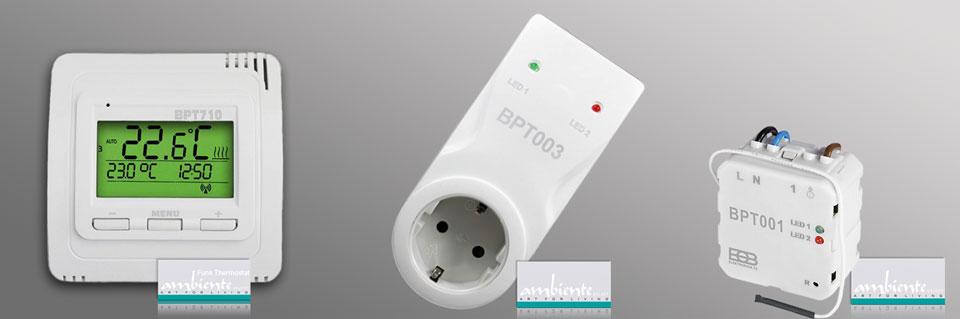 Thermostate und Zubehör: Funk-Thermostat BPT710 und Empfänger BPT001und BPT003