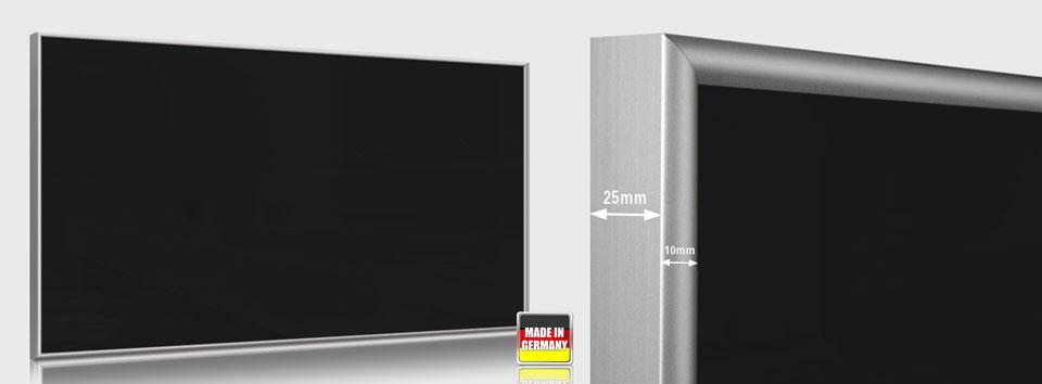 Infrarotheizungen Glas schwarz 700 Watt 120x60 cm ESG Sicherheitsglas schwarz emailliert