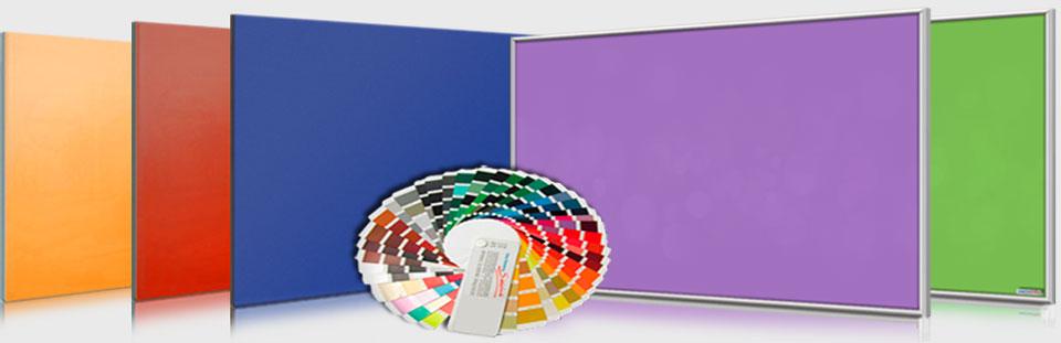 Farbige Infrarotheizungen nach RAL Farbfächer K7
