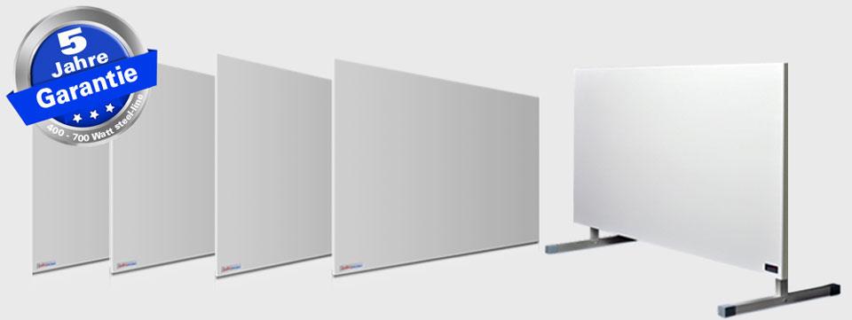 infrarot Metallheizung ist in 4 Größen von 400 bis 700 Watt bestellbar