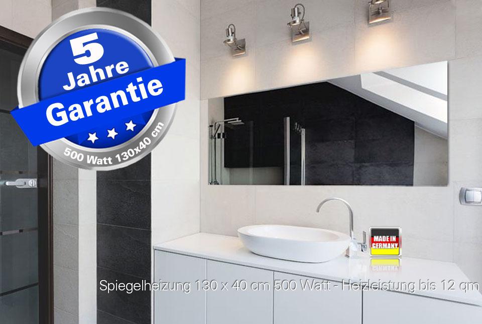 Infrarot Spiegelheizungen Rahmenlos im Badezimmer