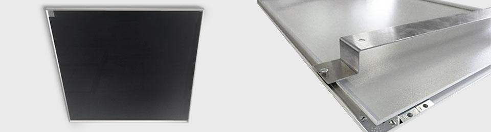 Infrarotheizung Glas schwarz für die Decke