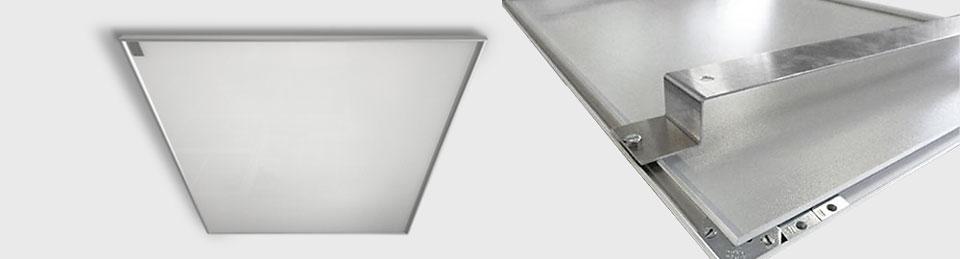 Infrarotheizungen weiß emailliert mit Alu Schienen für Deckenmontage