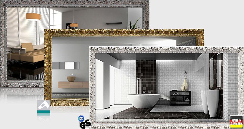 Design Spiegelheizungen 700 Watt mit Stilrahmen