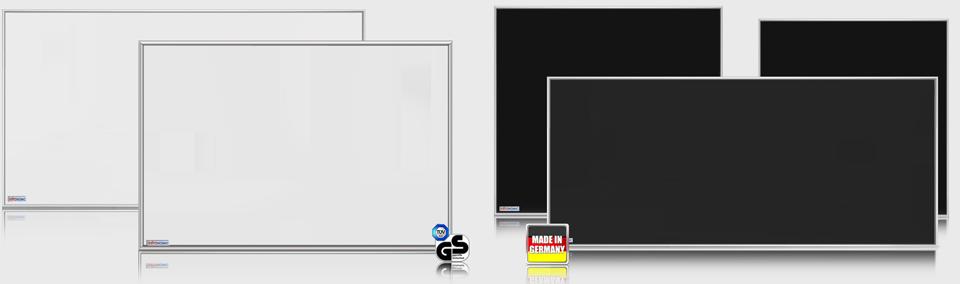 Standard Infrarotheizungen ESG Glas weiß und schwarz emailliert, die Alternative zu herkömmlichen Heiztechnologien