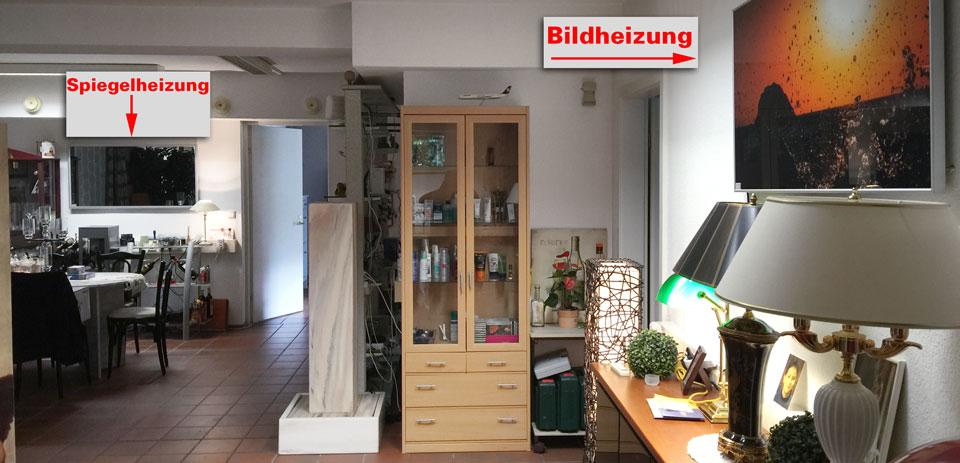 Infrarotheizungen Verteilung in großen Räumen