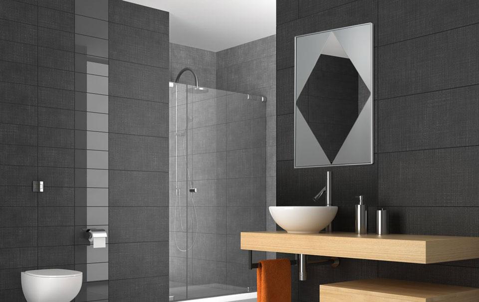 Infrarot Spiegelheizungen im Bad 500 Watt mit Raute Design
